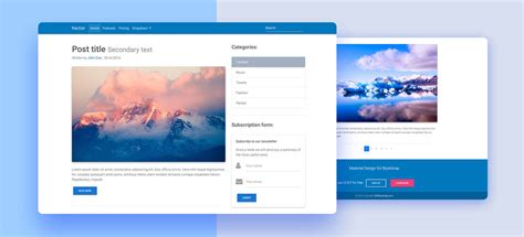 templates blogger material design free bootstrap 4 templates stunning responsive material