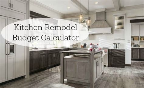 kitchen remodel cost where to spend and how to save kitchen remodel budget calculator easy to use tool for