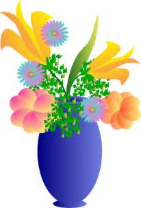 vase with flowers a vase of flowers clip at clker vector clip