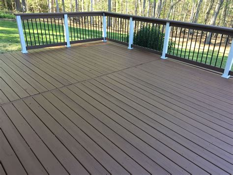 did the deck today and the shade deck paint colors behr chocolate on deck with behr