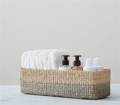 blue changing table blue abaca changing table storage pottery barn