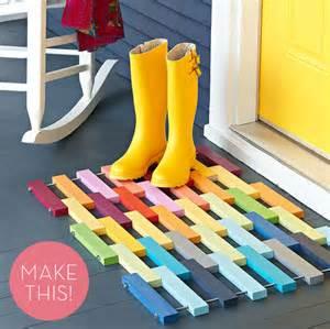 Colourful Door Mats How To Make A Colorful Diy Wooden Slat Door Mat 187 Curbly