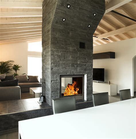 Two Sided Wood Burning Fireplace Sided Fireplace Chazelles Sided Wood Burning Fireplace