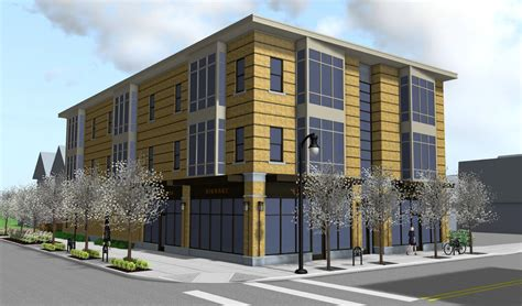 3 story building nicely done mixed use infill proposed on grant buffalo rising