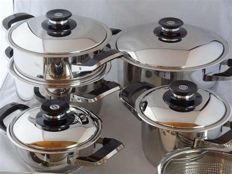 cucinare con pentole amc amc set pentole 12 pezzi secuquick acciaio inox da cucina