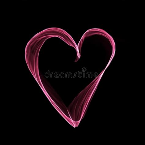 black pink heart abstract pink heart on black background vector stock