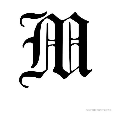 printable old english fonts 7 best images of printable fancy letter m cursive letter