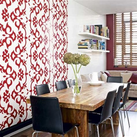 Wallpaper For Feature Wall In Dining Room | feature wall dining room dining rooms design ideas