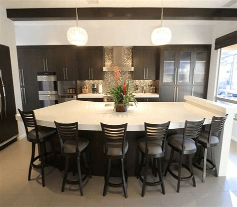 kitchen island seating for 6 guide to choose kitchen island with seating for 6