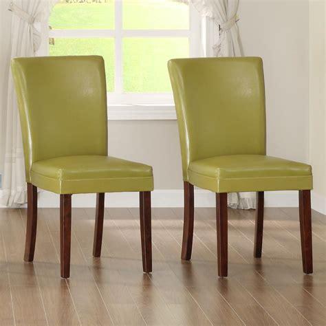 homesullivan chartreuse yellow parsons dining chair set   yspc  home depot