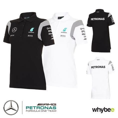 Polo Shirt Marcedes 3 2016 mercedes amg f1 womens team polo shirt black or white official formula one ebay