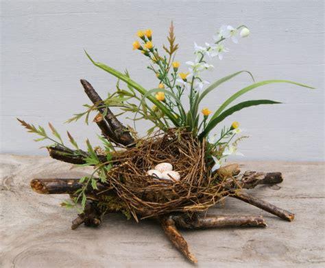 bird nest spring nest coffee table decor spring