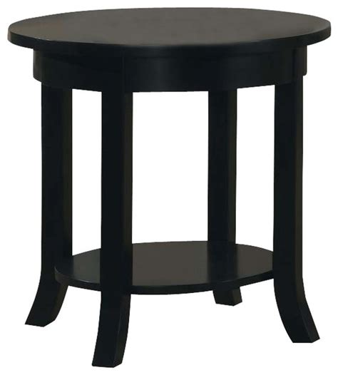 wood round accent side end table drawer shelf display wood black round flare square legs shelf accent sofa side