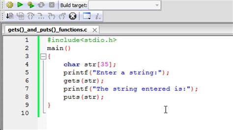 tutorial in c c programming tutorial 67 the gets and puts