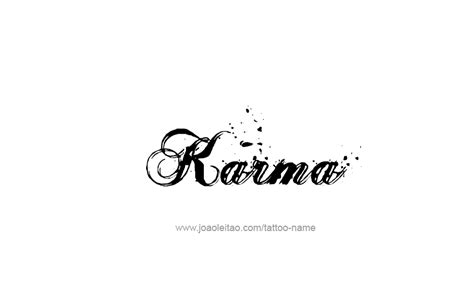 tattoo fonts karma karma name designs