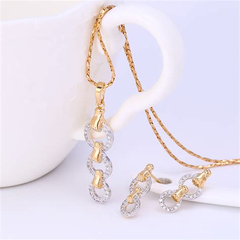 Set Xuping Gelang Tangan Cincin Gold 228 xuping sj1078 set 18k gold plated elevenia