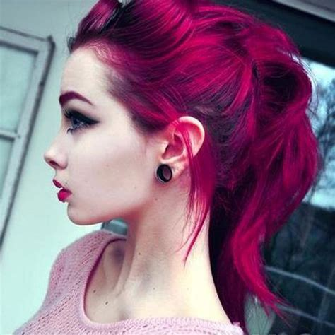Electric Hair Fuschia Manic Panic Fuschia Shock Hair Colar And Cut Style
