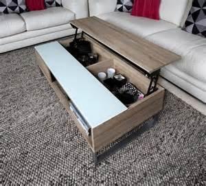 table basse design r 233 glage en hauteur en bois clair et