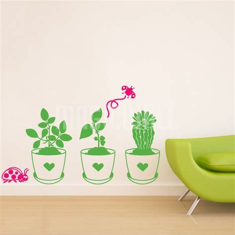 ladybug wall stickers wall stickers flower pots with ladybug wall decals canada
