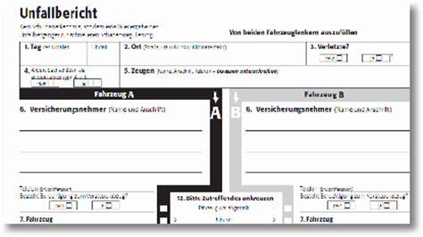 Auto Unfallbericht by Auto Unfallbericht Vorlage Zum Ausdrucken