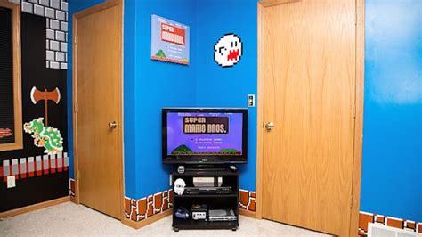 super mario bros bedroom dad creates the ultimate mario bedroom for his teenage