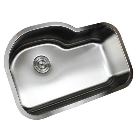 undermount offset single bowl sink ariel pearl 31 1 2 inch stainless steel undermount offset
