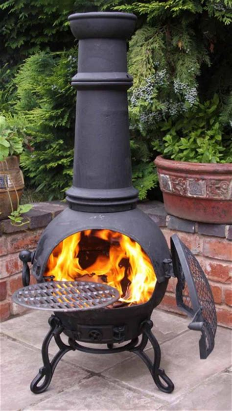 Cast Iron Fireplace Grill by Large Toledo Black Cast Iron Chimenea Fireplace With Bbq Grill 163 123 49 Garden4less Uk Shop