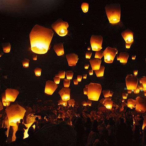 Paper Lanterns For Candles - paper lanterns sky fly candle l for wish