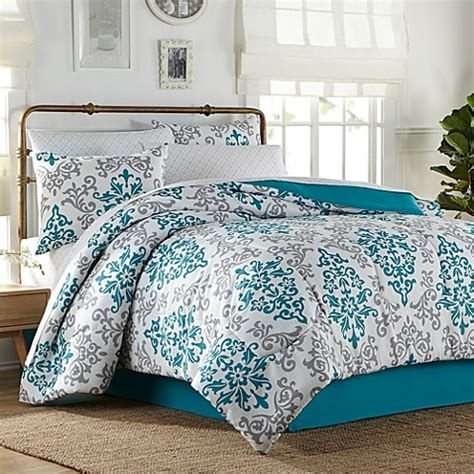 carina 6 8 piece comforter set in turquoise bed bath