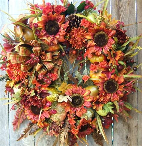 beautiful wreaths 1000 images about fall wreaths on pinterest front doors