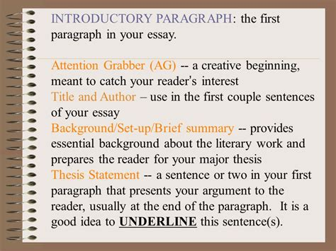 Introductory Paragraph Of An Essay by Introductory Paragraph In An Essay