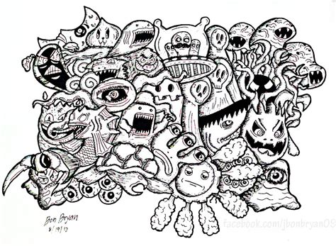 doodle and doodle monsters by bon arts doodling doodle