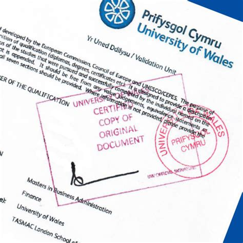 Mba In Wales by Certified Copies Of Degree Certificate And Transcript