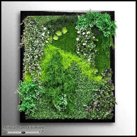 Framed Plant Wall cedar framed replica green wall artificial plants unlimited
