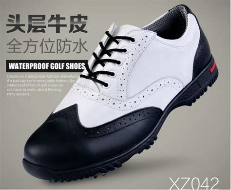 2015 genuine leather pgm golf shoes with spikers anti slip