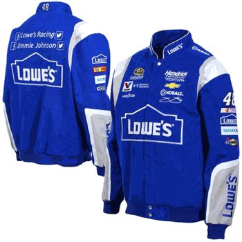 design your own nascar jacket jimmie johnson lowe s mens royal twill nascar jacket by jh