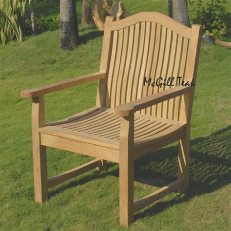 Teak Outdoor Dining Chairs Teak Outdoor Dining Arm Chair Laguna