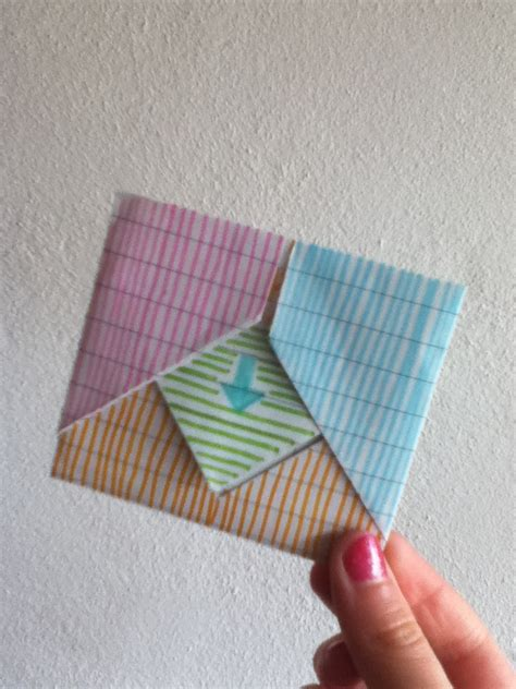 Interesting Paper Folds - a cool way to fold notes rock