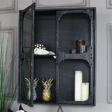 glass fronted wall mounted cabinet wall mounted glass fronted cabinet retro style bathroom