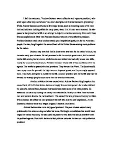 Apush Essay Andrew Jackson by Andrew Jackson Essay Compare And Contrast The Democratic Successes And Failures Of Ayucar