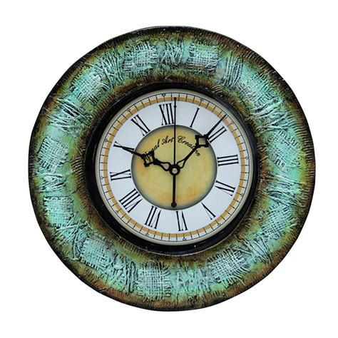 Handcrafted Wood Clocks - wooden handcrafted wall clock yac32 buy wooden