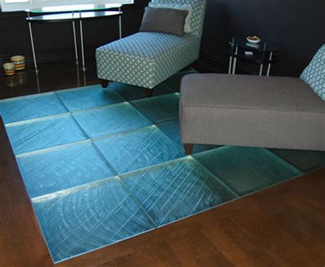 glass tile floor from thinkglass walking on glass is a