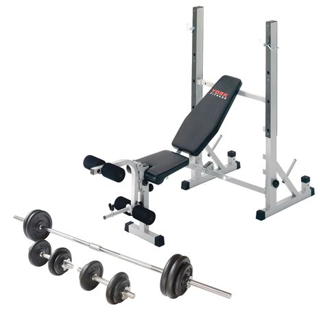 York B540 Folding Weight Bench And Viavito 50kg Cast Iron