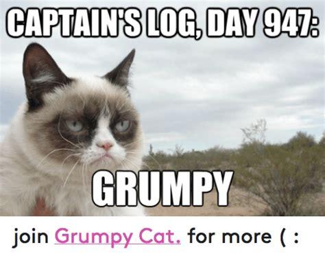 grumpy cat joins cats on 25 best memes about captains log captains log memes