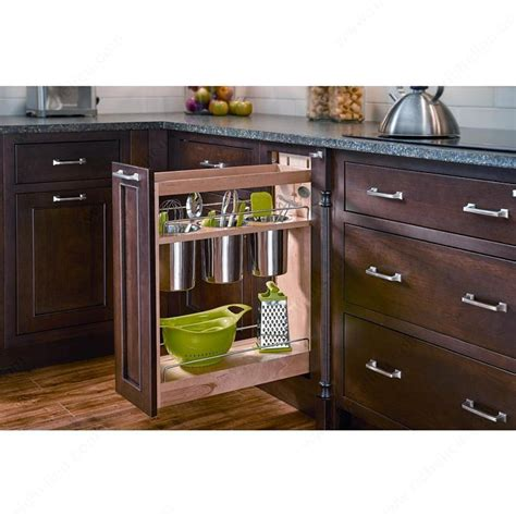 Kitchen Cabinet Storage Accessories Blumotion Sliding System Utensils And Containers Richelieu Hardware