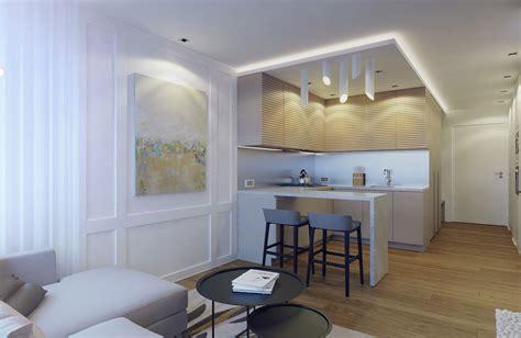 eugene meshcheruk designs cozy  square foot apartment