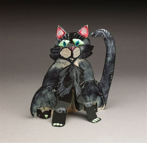 Black Cat Papercraft - black cat window watcher craft crayola