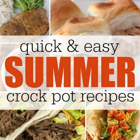 summer crock pot recipes coupon closet