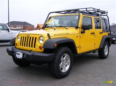 yellow jeep yellow jeep wrangler unlimited rubicon for sale