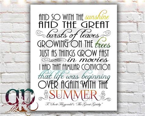 printable gatsby quotes great gatsby quote print printable art by